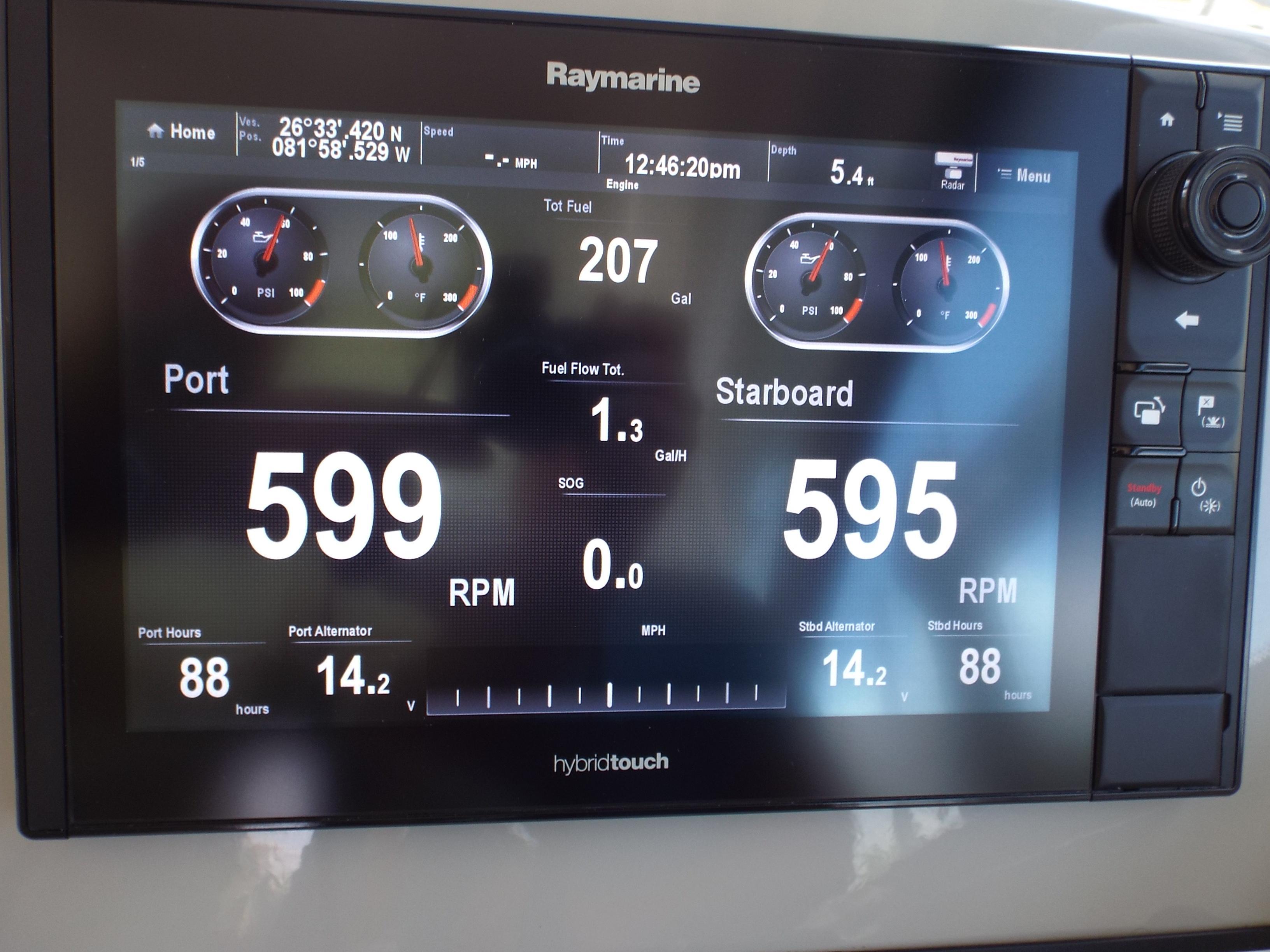Mercury Vessel View RPM's etc