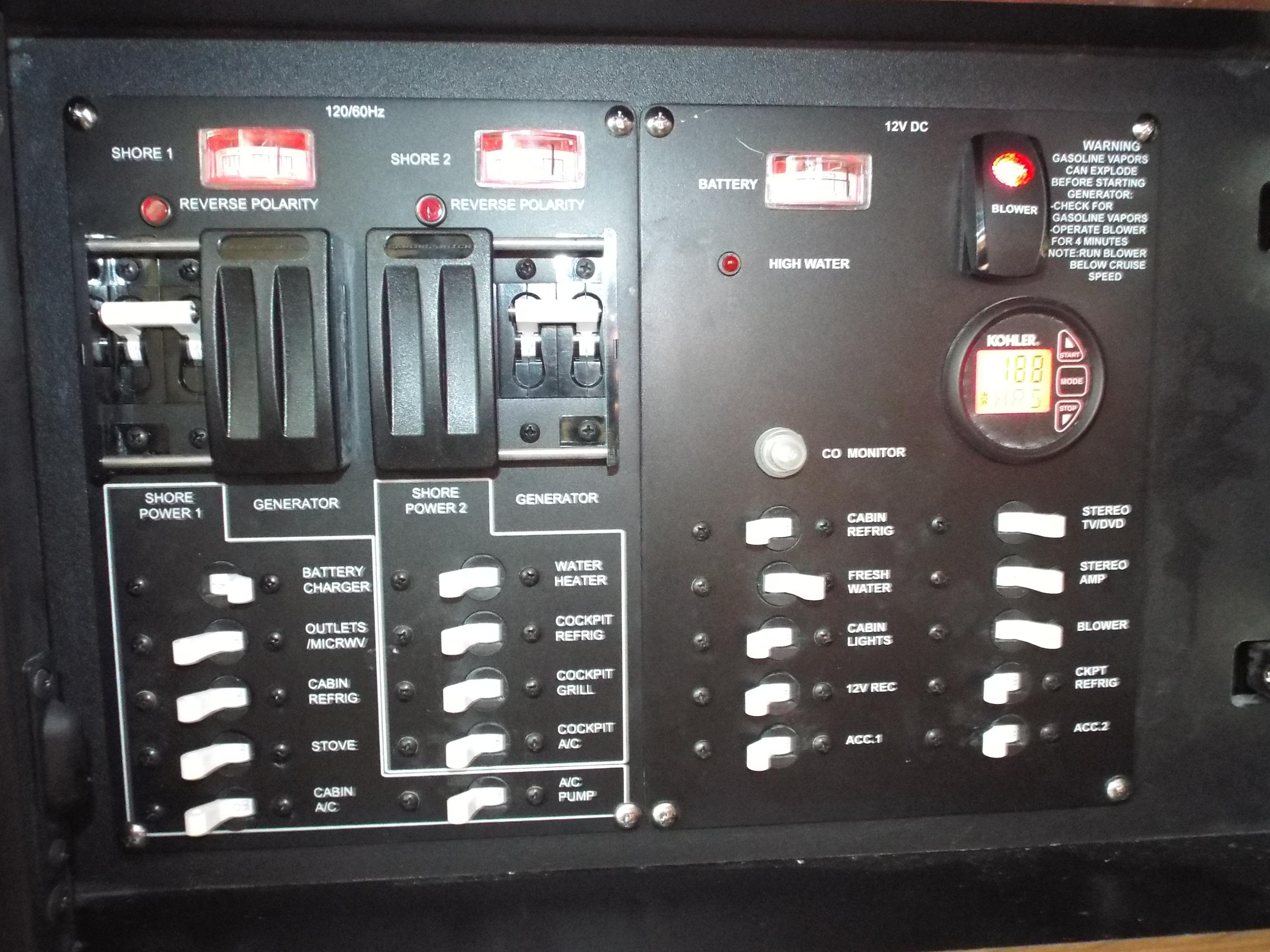 Electrical  Panel in Cabin