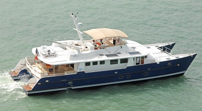 YC 80 Tropic Composites Power Catamaran PELICANO