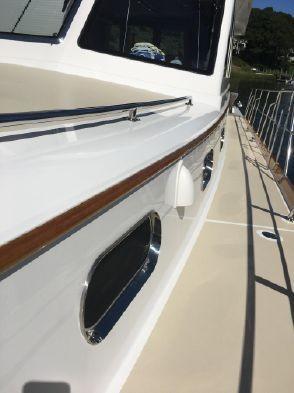 55 ft Grand Banks 55 Eastbay FB Side deck