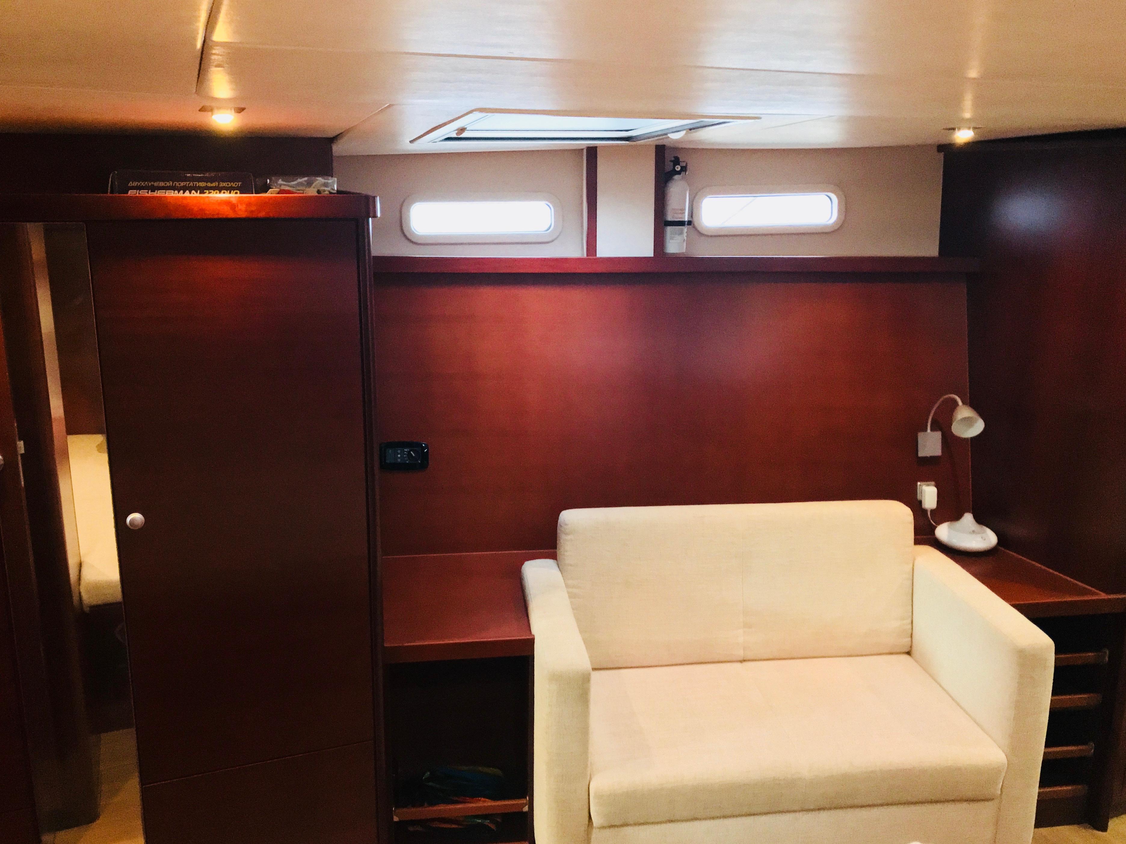 Owner cabin sofa