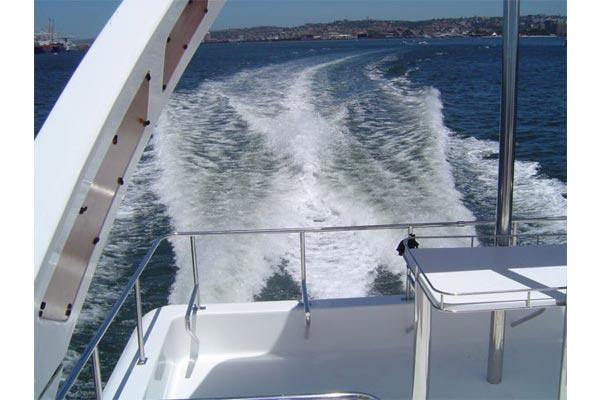 PowerCat 420 aft view