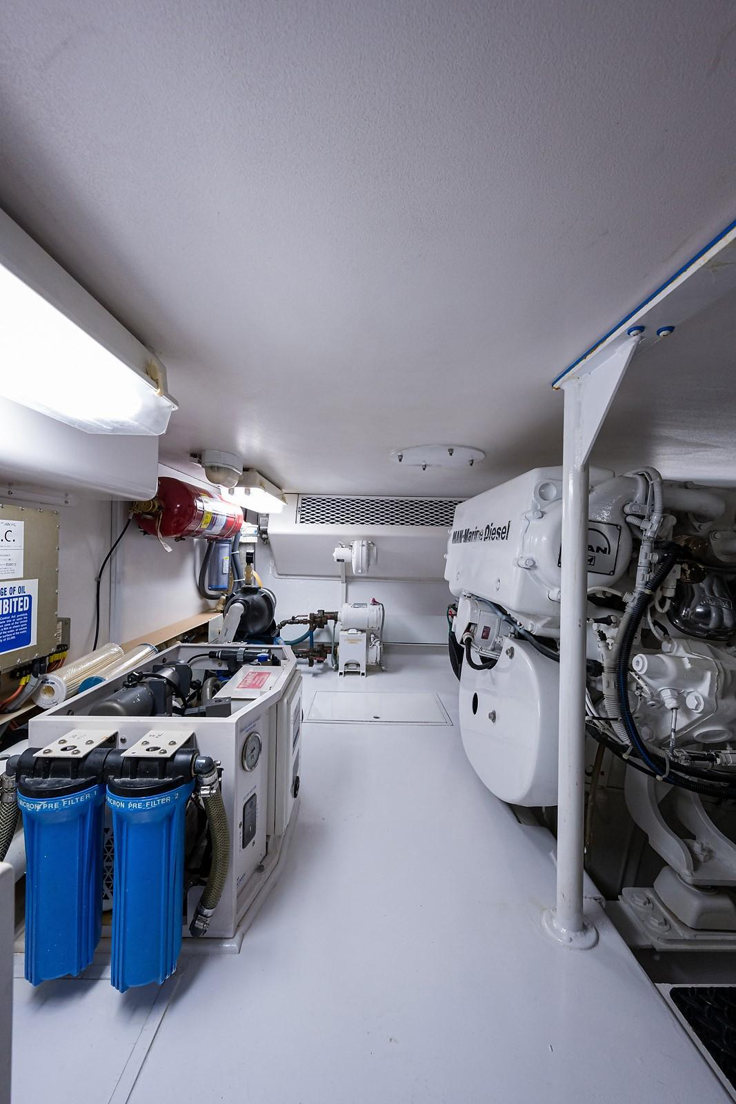 "Trawler Engine Room: 55 Viking Convertible 2001 ""No Vacancy"""