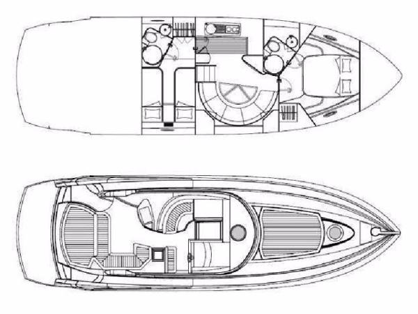 Sunseeker Portofino 47 layout