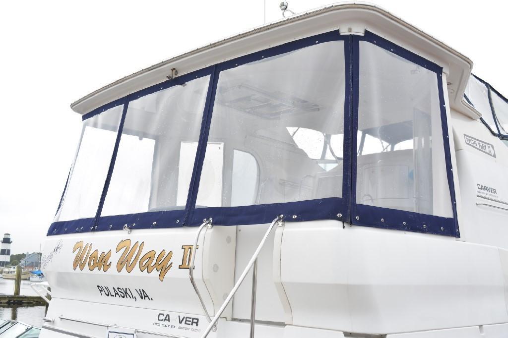 Carver 466 Motor Yacht - New Aft Deck Enclosure
