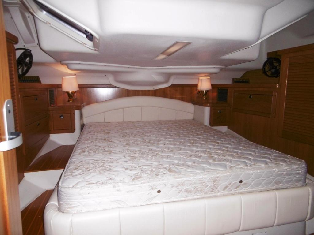 Master stateroom aft with lots of room and storage
