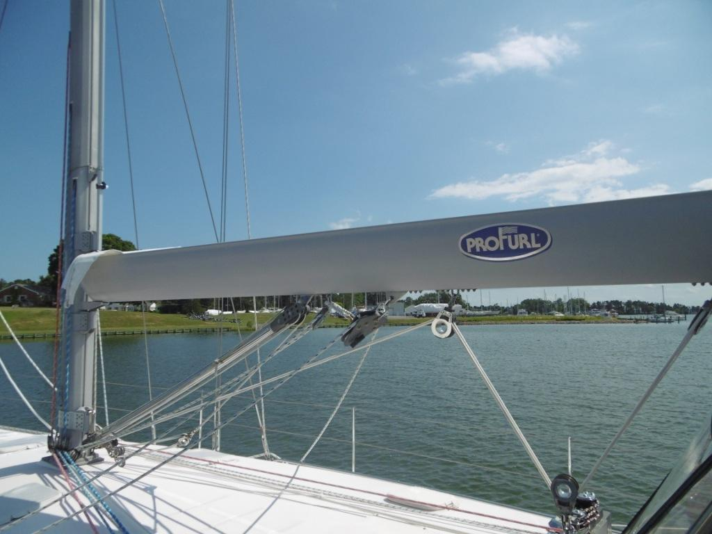 Upgraded ProFurl inboom mainsail for better sail shape