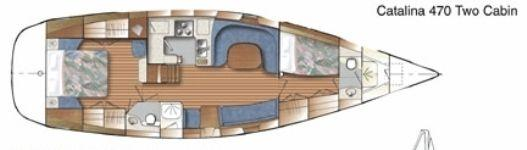 Catalina 470 layout