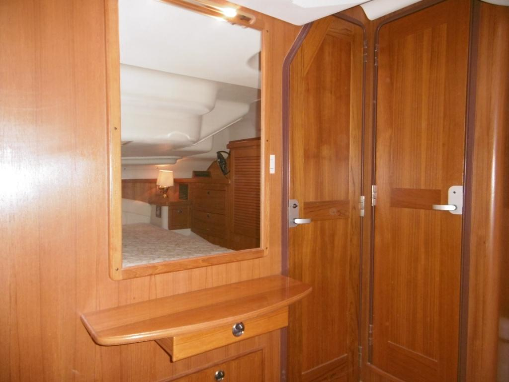 Master stateroom has private ensuite head
