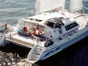 Under Sail - Aft View