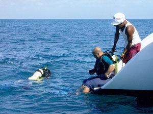 Swimming Off Transom