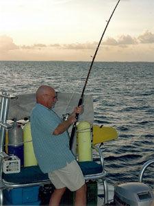 Fishing Off Aft Cockpit