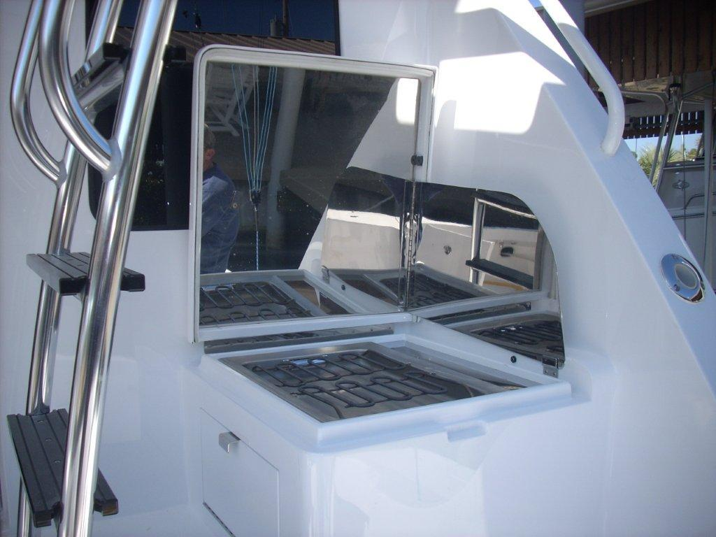 Custom Grill in Cockpit