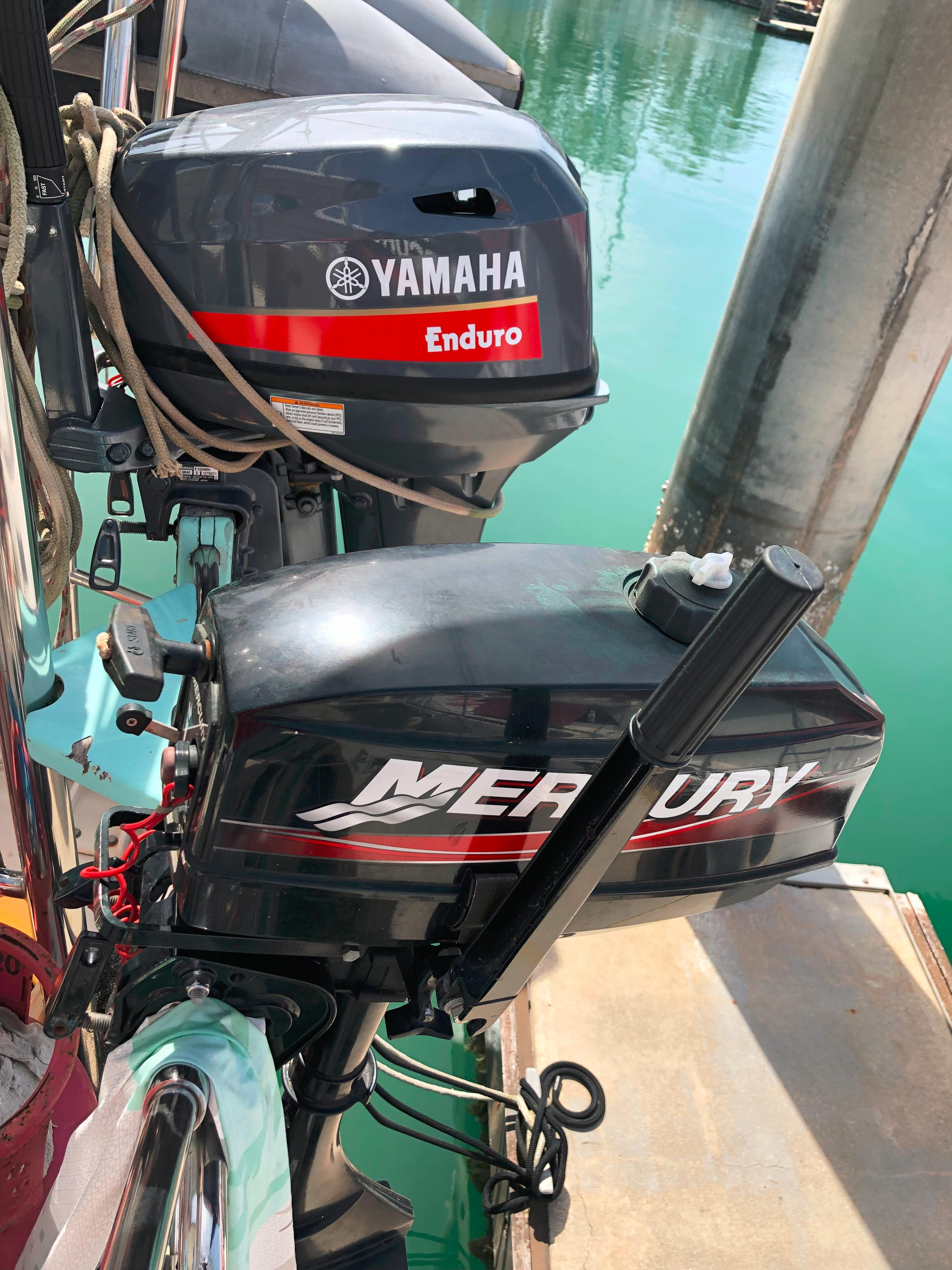 Outboard engines 15hp and 3.3hp