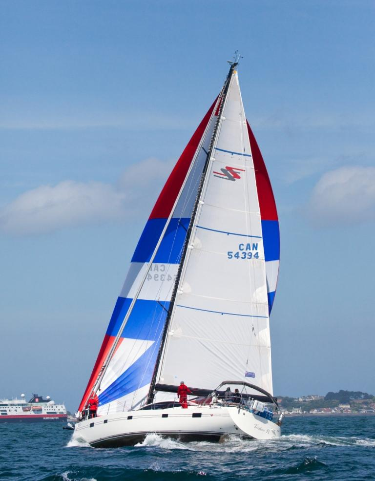 Southerly 57 spinnaker sailing