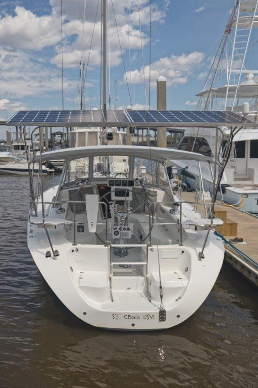 Sugar scoop transom and solar panels