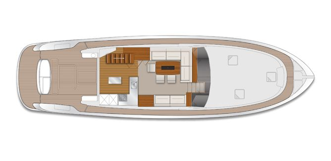 Manufacturer Provided Image: Maritimo M58 Saloon/Cockpit Layout