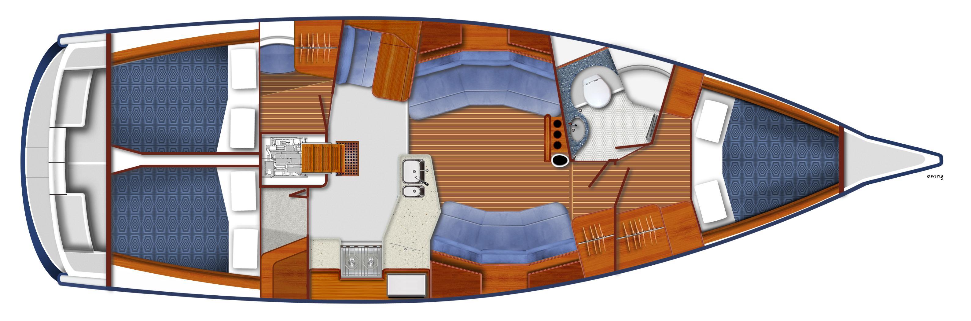 Sleek Hull Design For A Performance Cruiser.