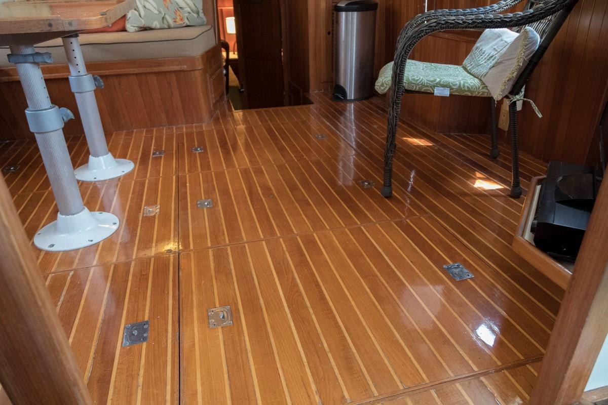 Custom 42 Taiwan Overseas - Teak and Holly Flooring