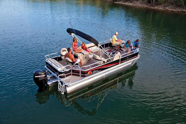 2013 Sun Tracker boat for sale, model of the boat is Fishin' Barge 22 DLX & Image # 3 of 44