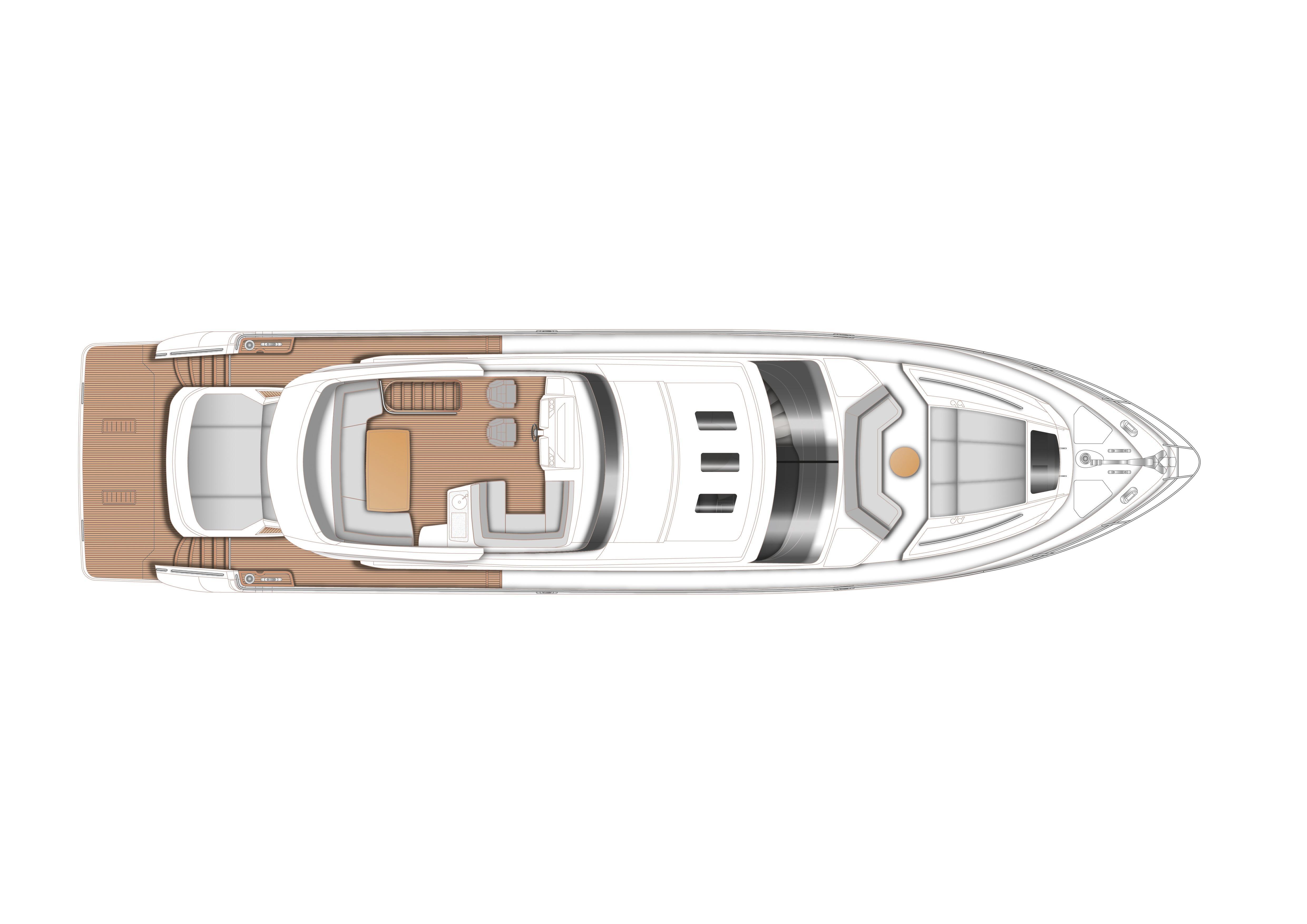 Manufacturer Provided Image: Princess S72 Flybridge Layout Plan