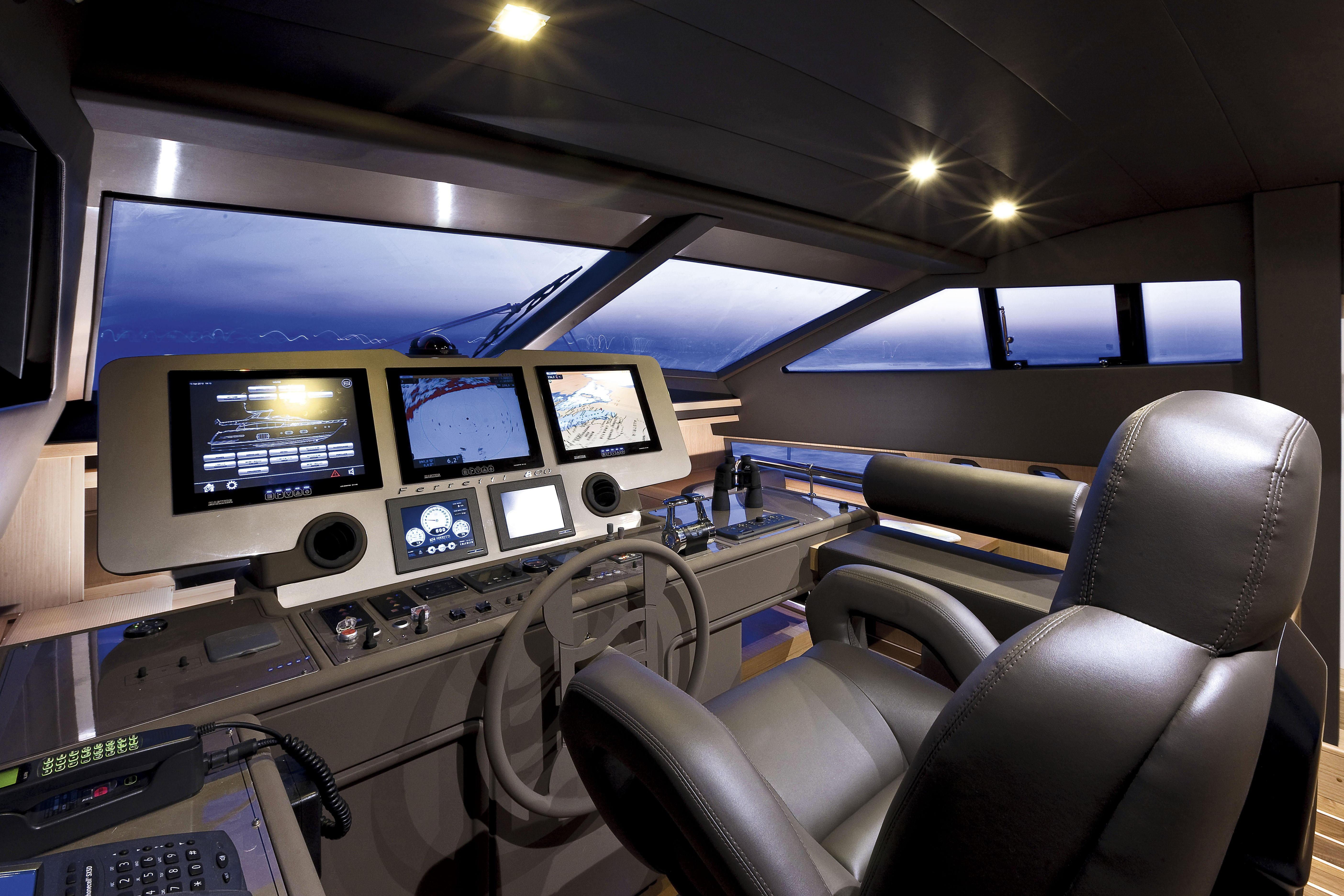Manufacturer Provided Image: Ferretti 830 Helm