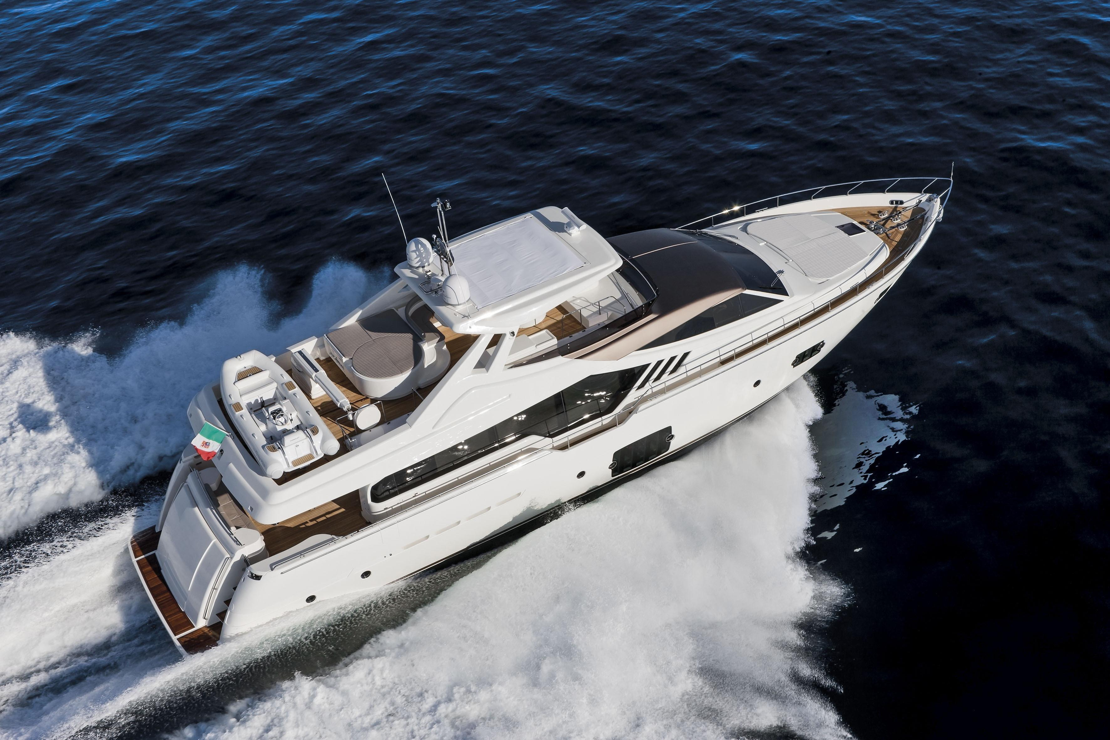Manufacturer Provided Image: Ferretti 870 Aerial View