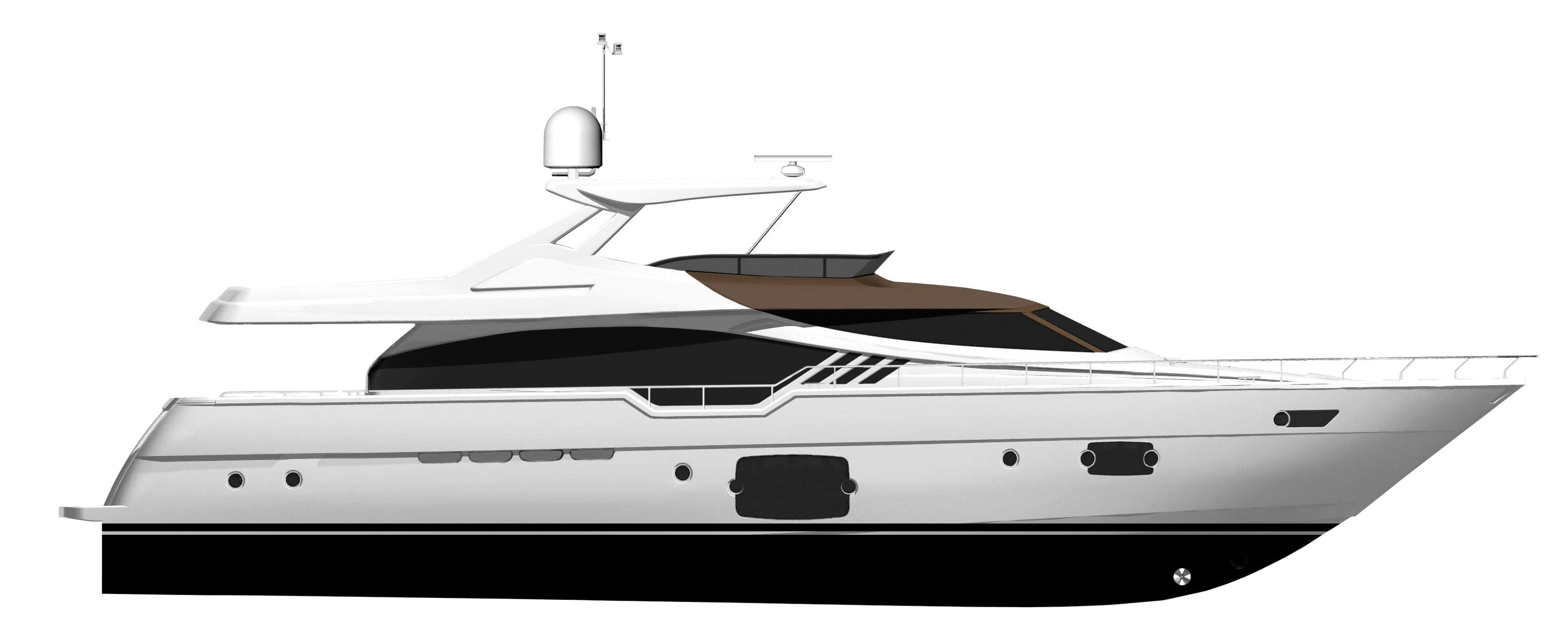 Manufacturer Provided Image: Ferretti 870 Hard Top Profile