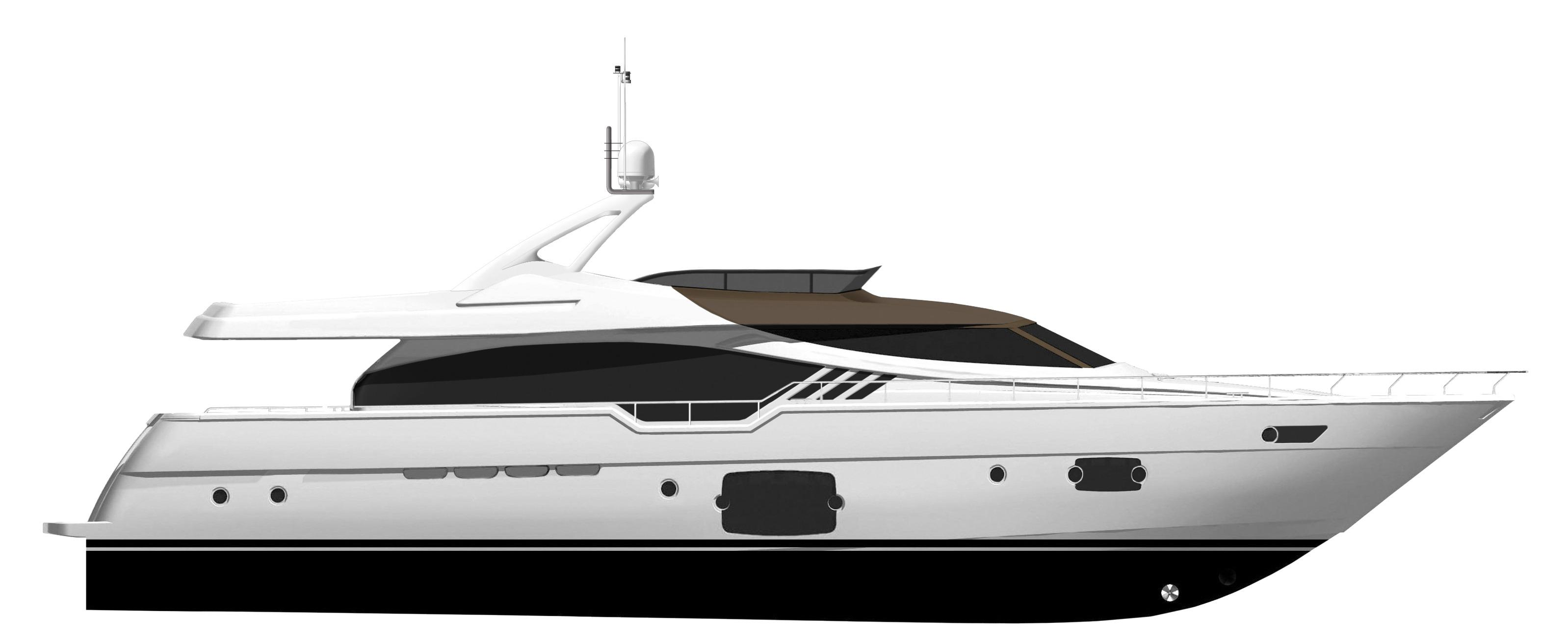 Manufacturer Provided Image: Ferretti 870 Profile