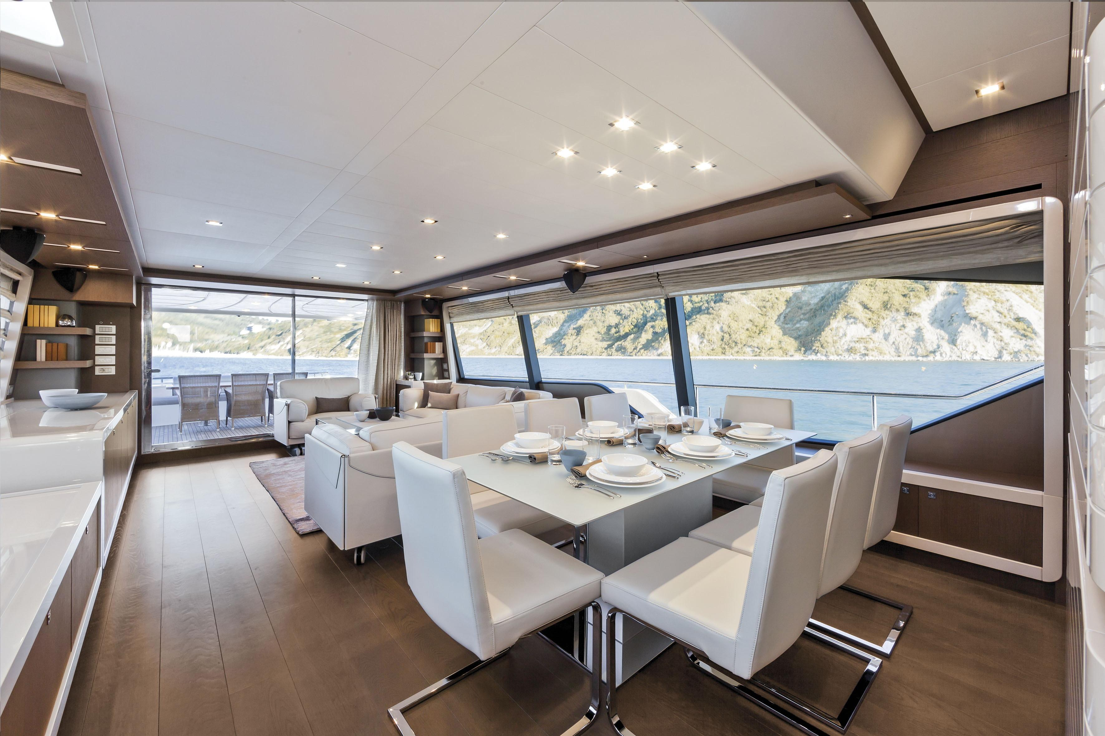 Manufacturer Provided Image: Ferretti 870 Dining