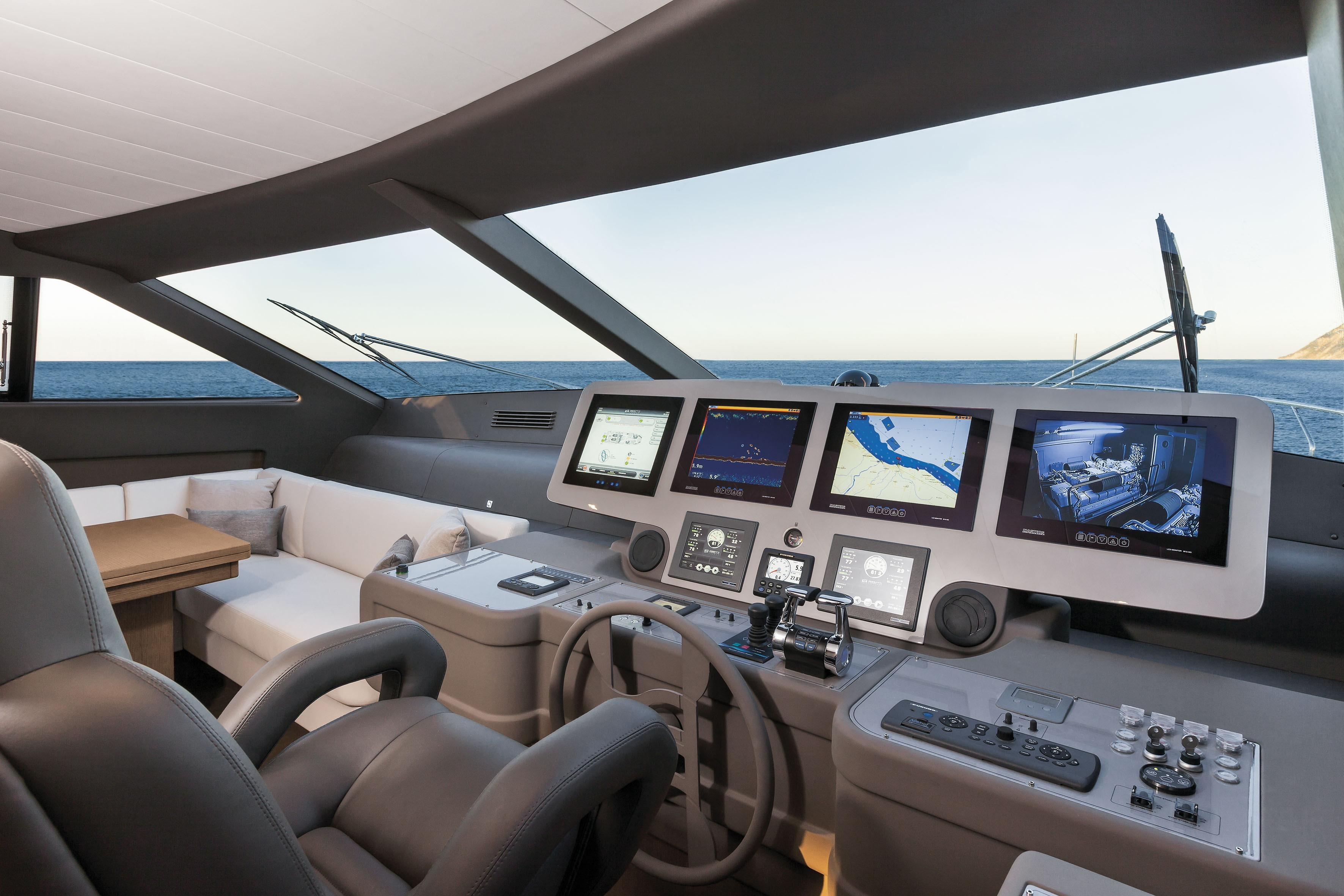 Manufacturer Provided Image: Ferretti 870 Helm