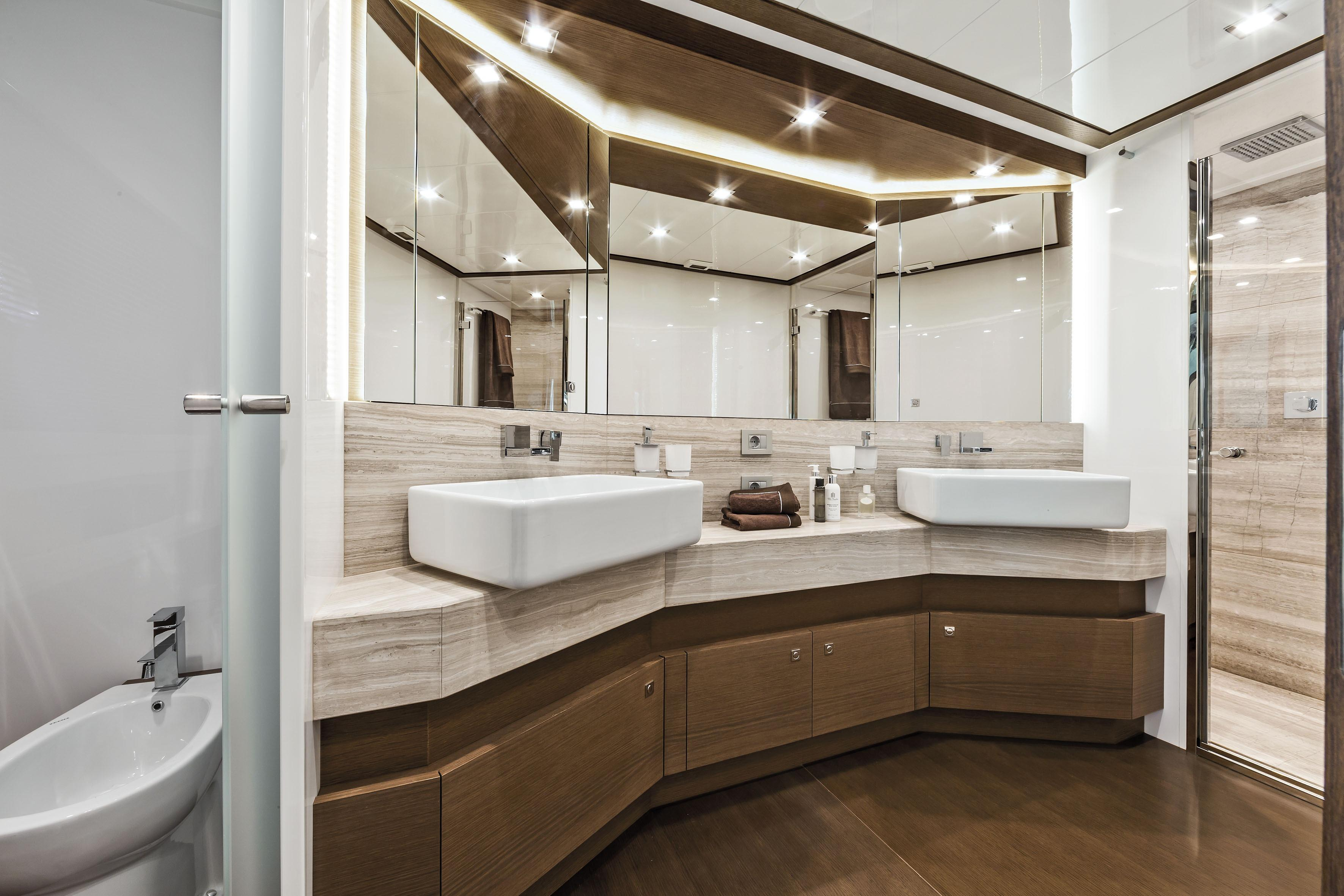 Manufacturer Provided Image: Ferretti 870 Bathroom