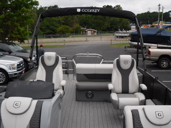 2021 Godfrey Pontoon boat for sale, model of the boat is Monaco 235 SFL GTP 27 in. & Image # 3 of 30