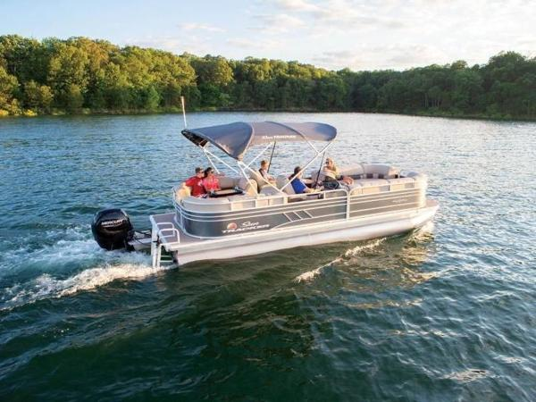 2020 Sun Tracker boat for sale, model of the boat is PARTY BARGE® 24 DLX & Image # 1 of 59
