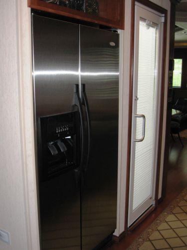 Refrigerator / Door to top deck