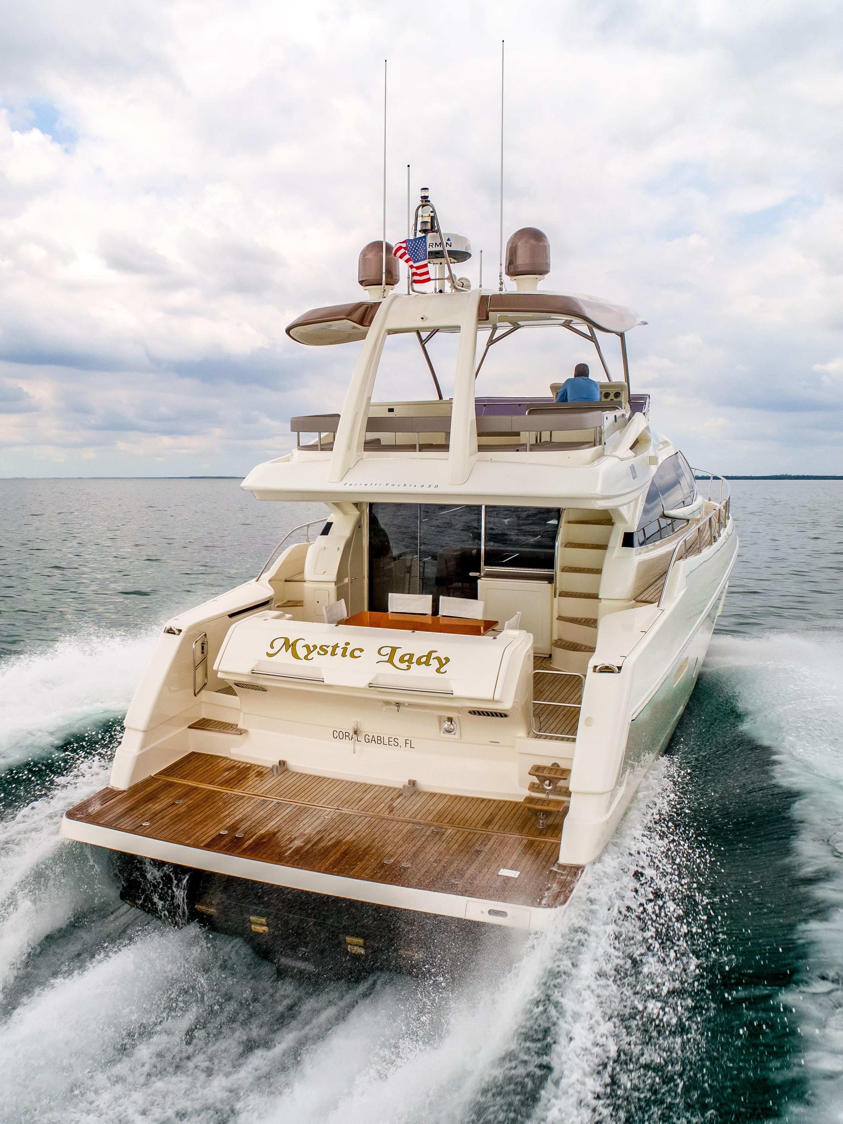 Ferretti 650 - Stern