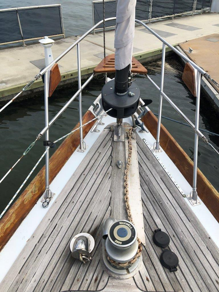 Windlass and furling headsail