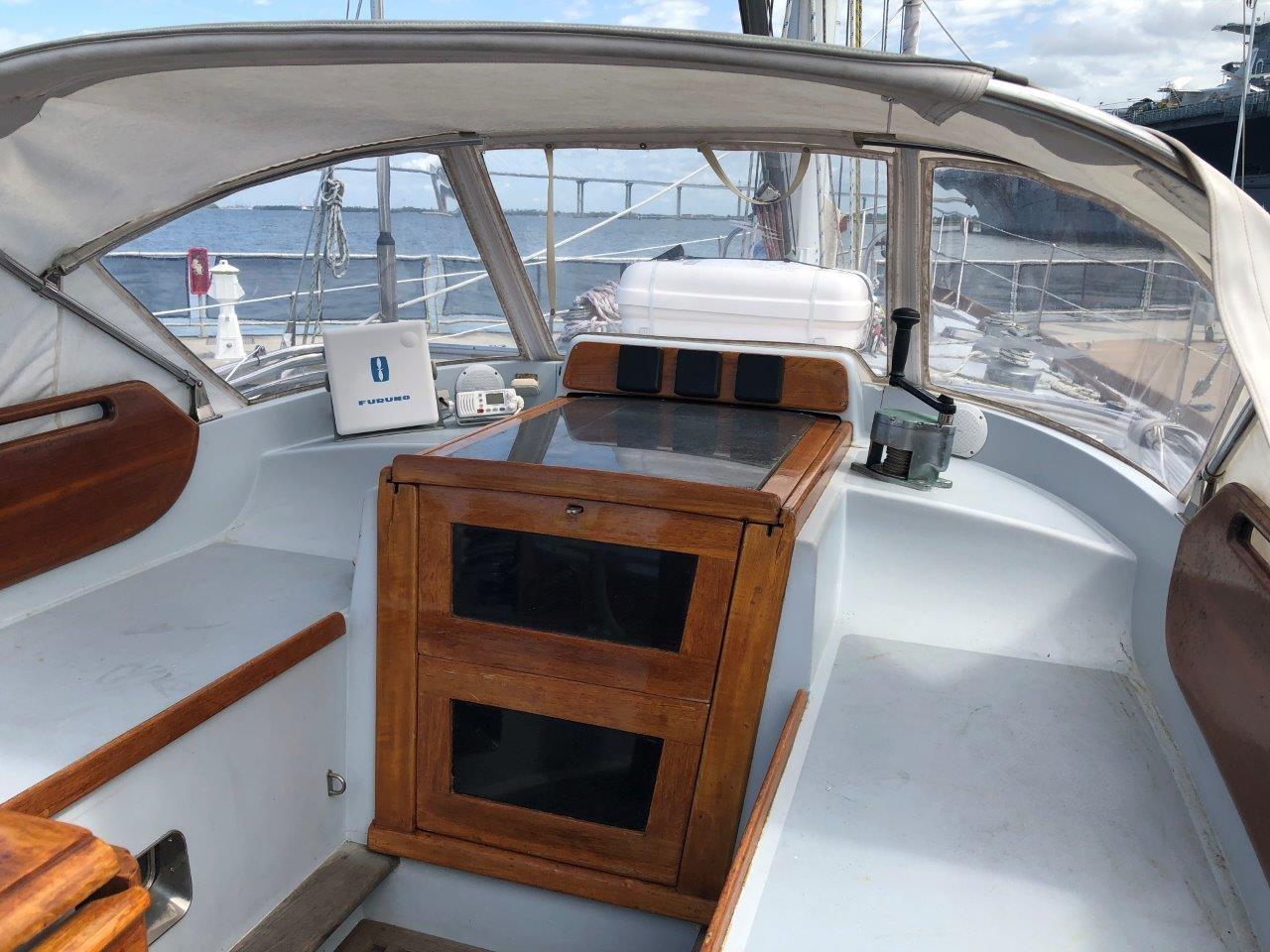 Dodger and companionway