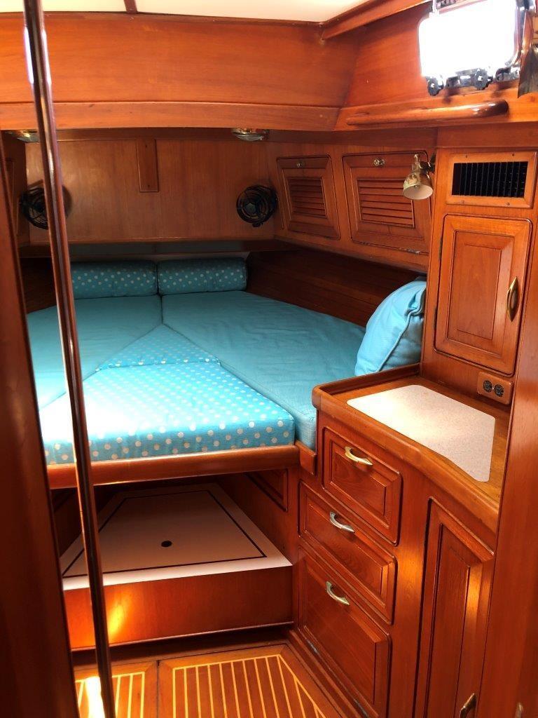 Forward stateroom v-berth with insert