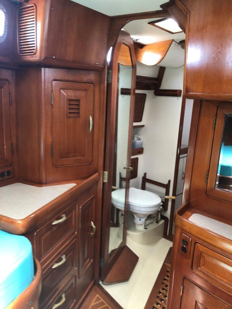 Aft stateroom storage and head