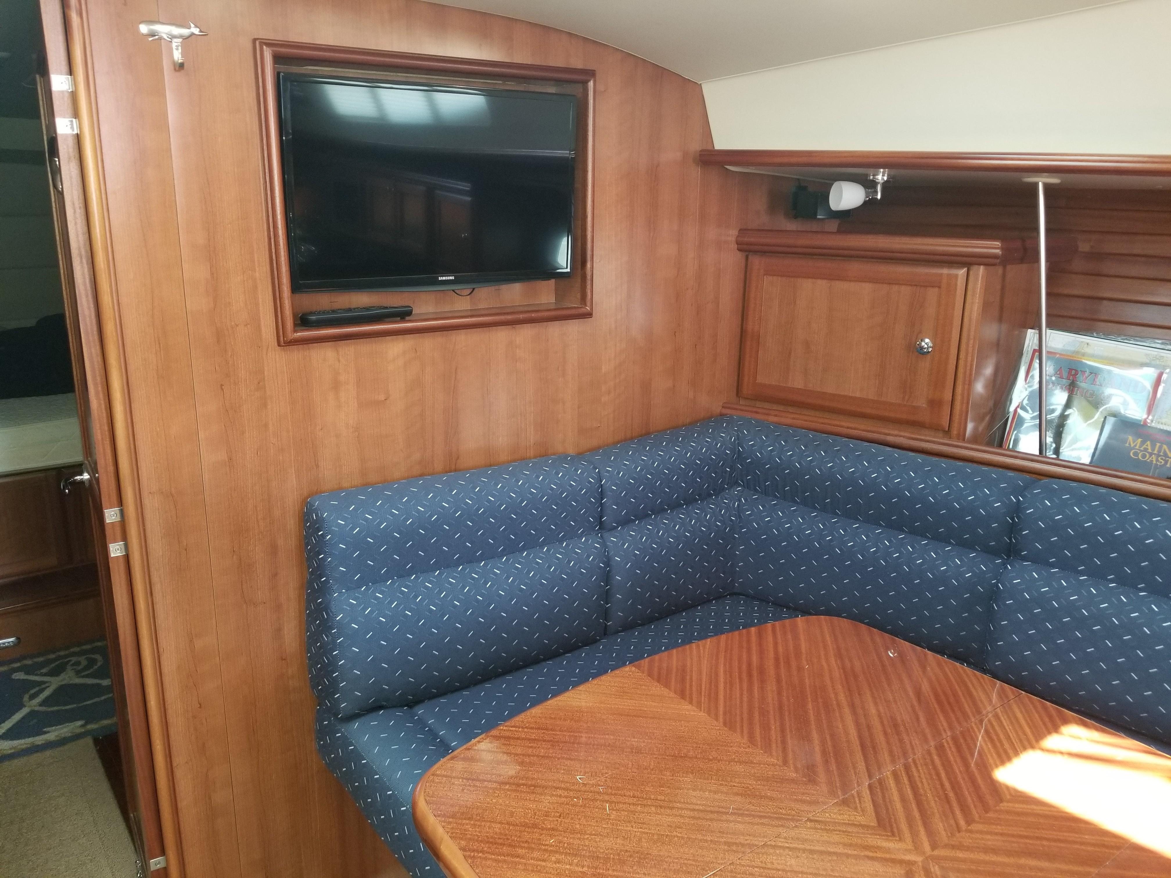Starboard Settee and TV