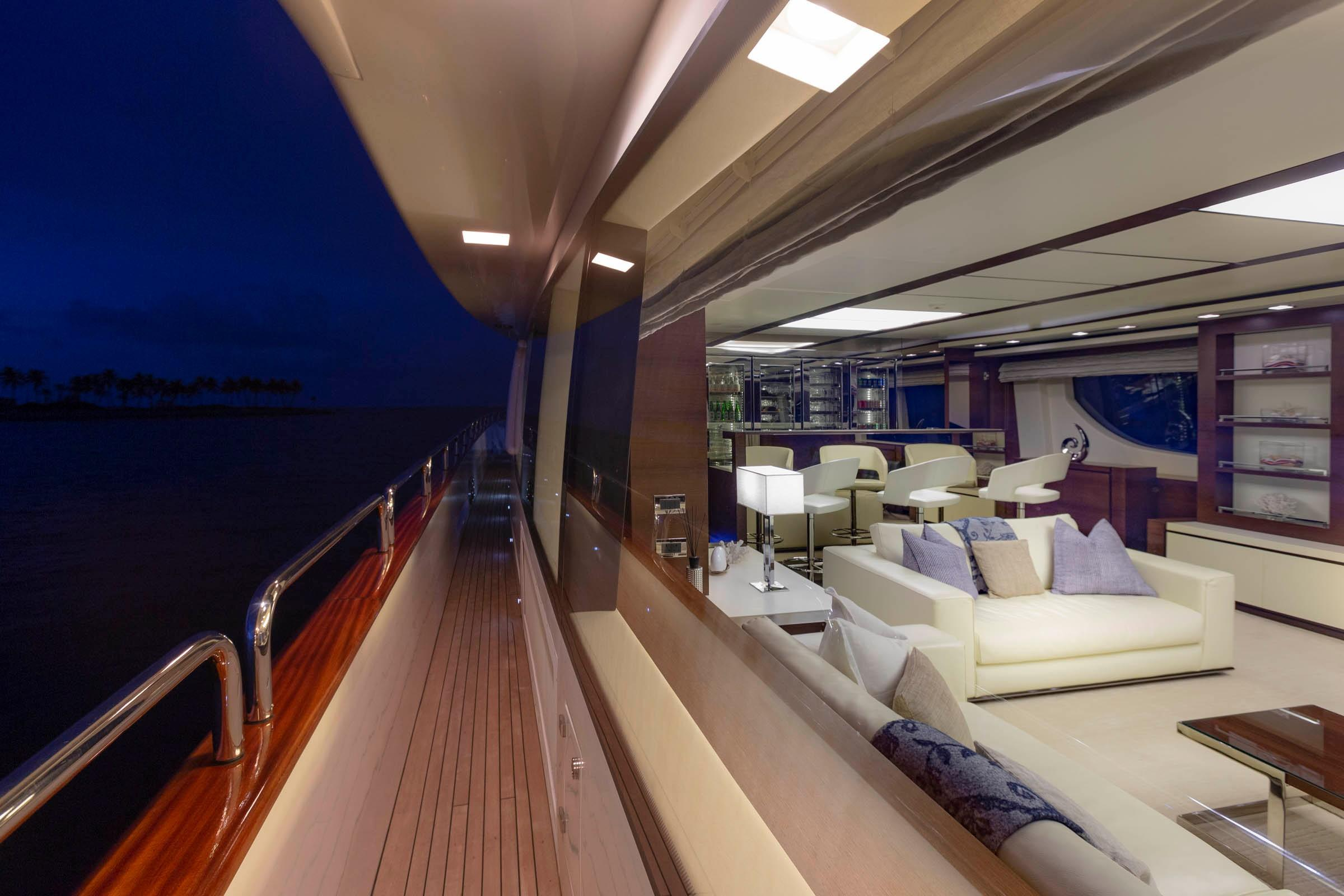 105 Azimut Main Salon from Port side deck
