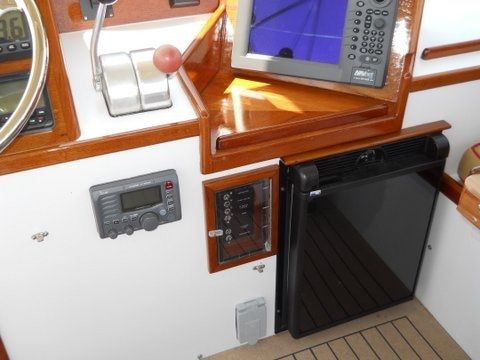 Refrigerator on flybridge