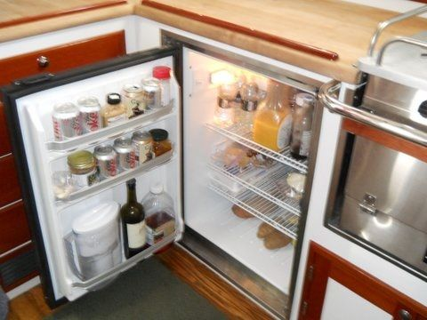 Galley under counter refrigerator