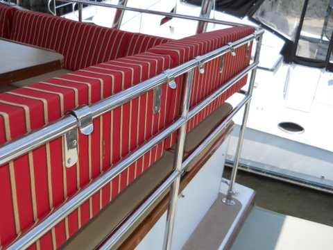 Back of flybridge seating