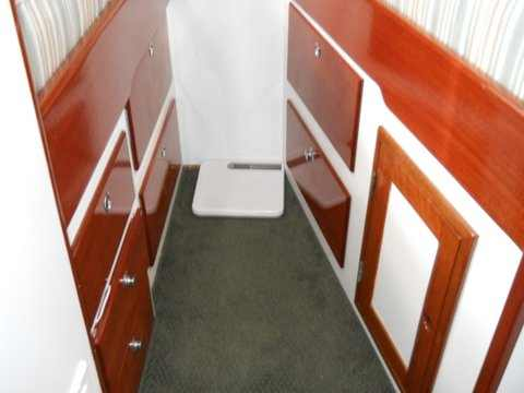 Forward v-berth storage