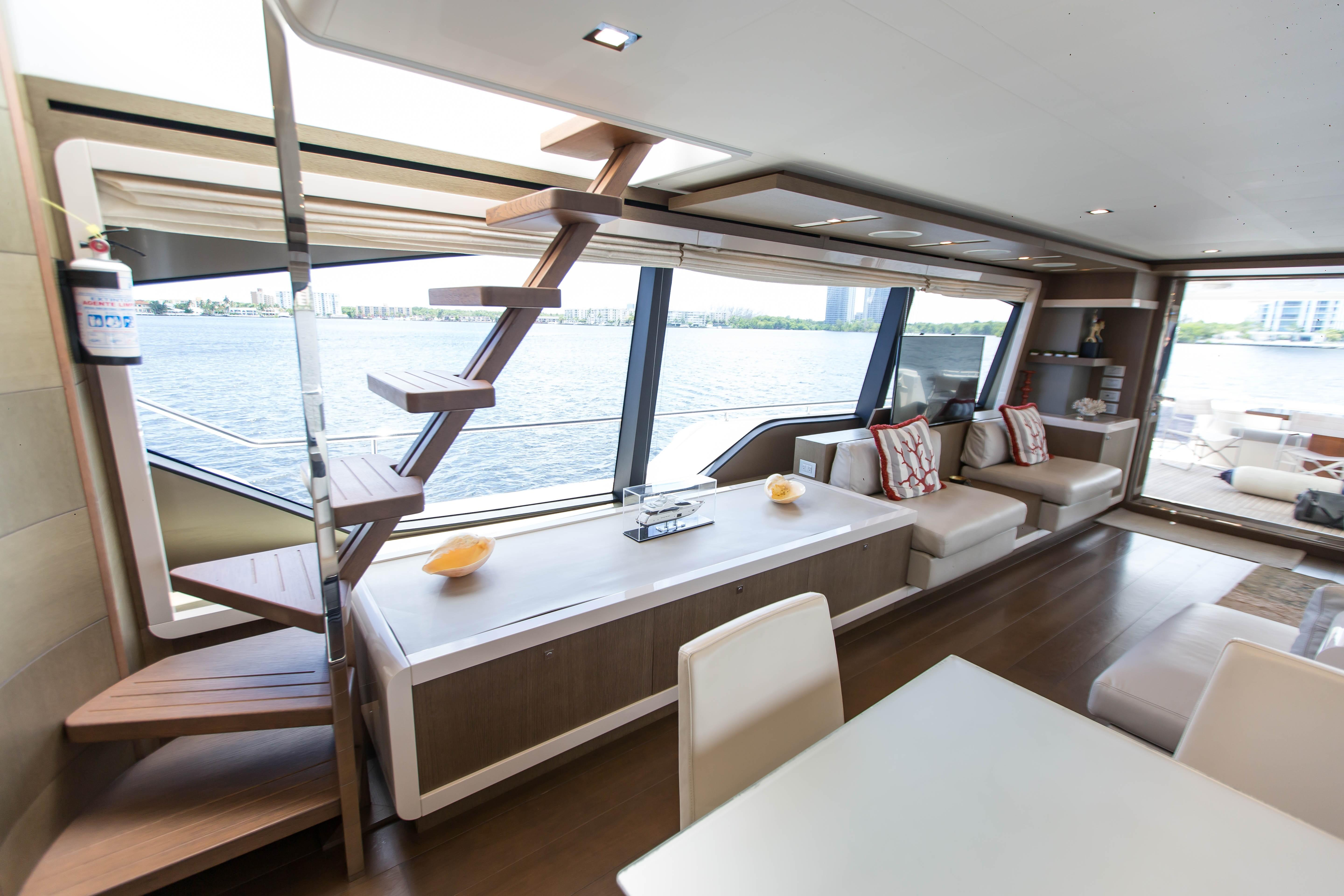 2016  Ferretti Yachts 870 Paola IV - Stairs to Flybridge