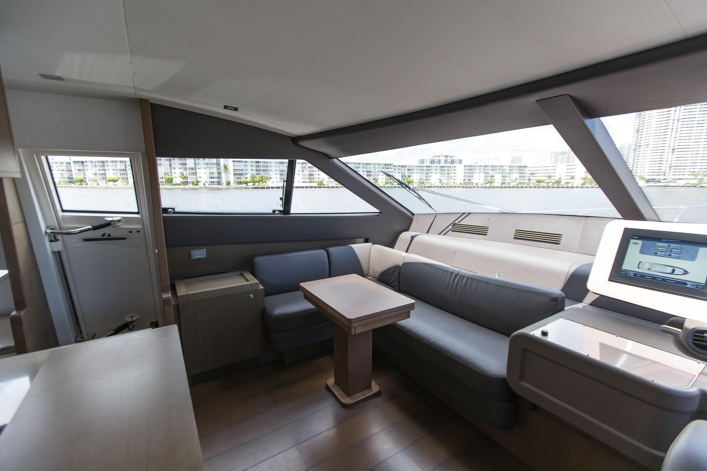 2016  Ferretti Yachts 870 Paola IV - Helm Seating Area