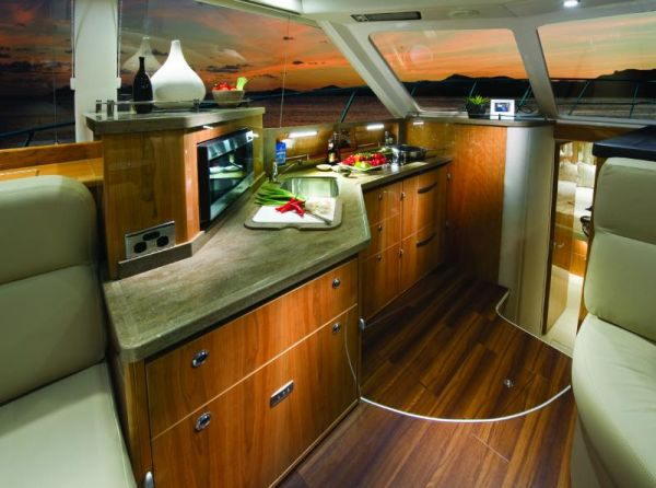 Riviera 43 Flybridge Galley