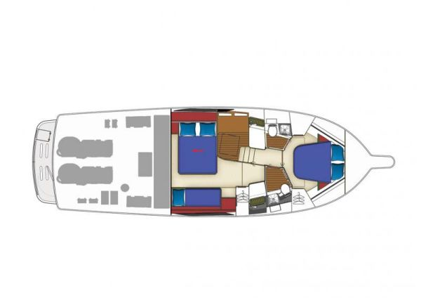 Riviera 43 Flybridge Cabin Layout